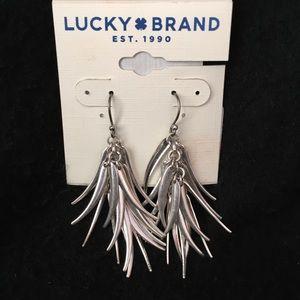 NWT Lucky Brand Silver Dangle Earrings